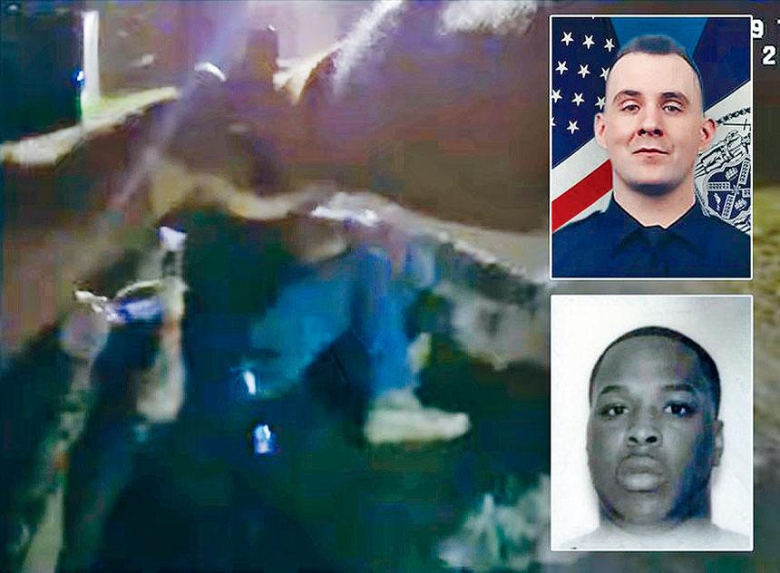 警方在網上發布13分鐘的剪輯視頻。紐約市警務處