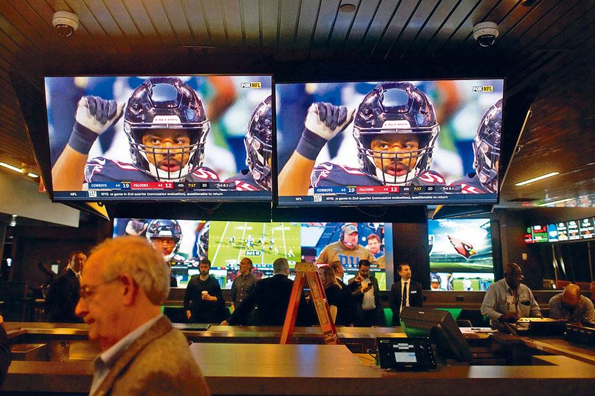 新州於去年全面允許體育博彩合法化。Mark Makela/紐約時報