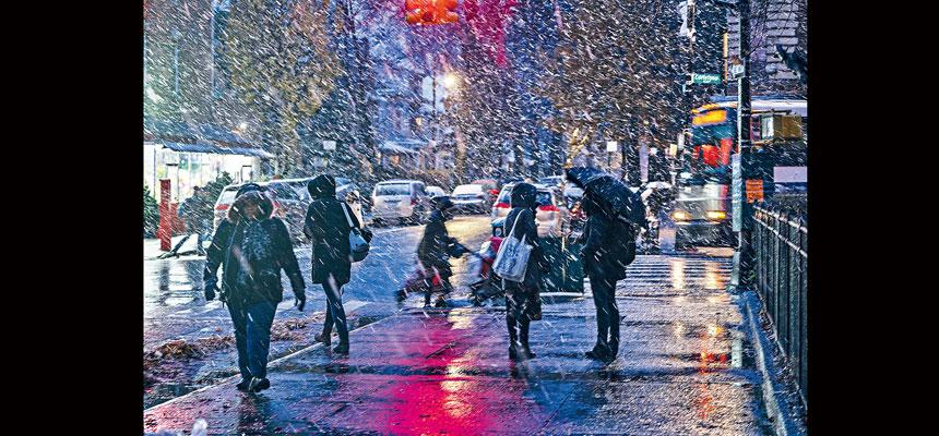 紐約市冬季天氣警示至3日早上7時。Jeenah Moon/紐約時報