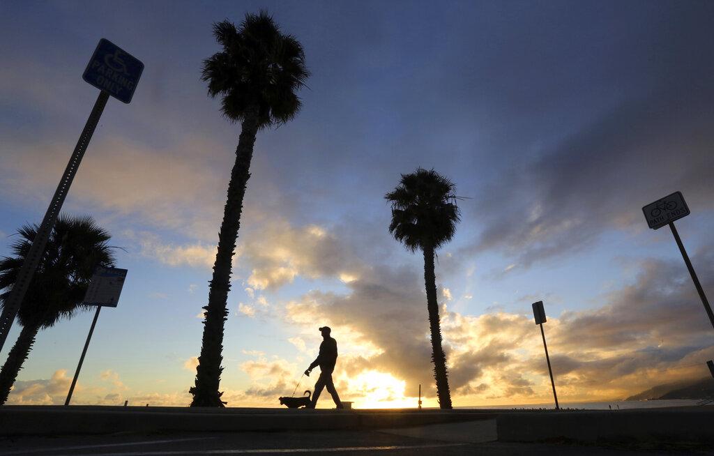 近日降雨對於加州乾旱情況並未造成極大的影響。美聯社