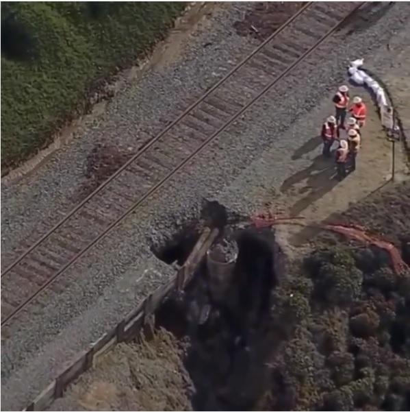 德馬懸崖鐵道崩塌意外 運輸局評估此次緊急維修需要花費5百萬美元。Fox 5 San Diego