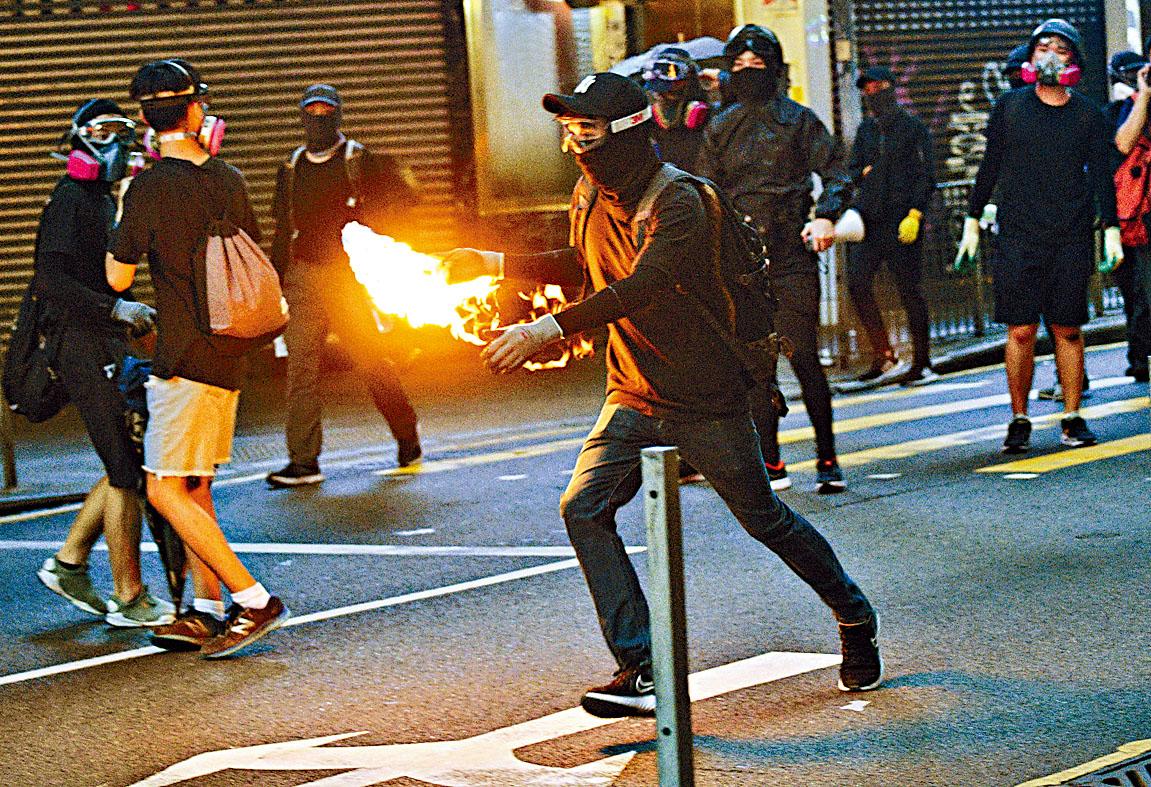 民陣近期集會或遊行後,均出現騷亂情況。資料圖片