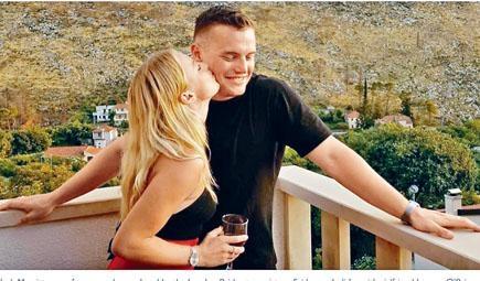 倫敦橋恐襲遇害者之一的劍橋研究生梅里特(右)生前與女友度假時合照。