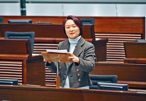 民建聯主席李慧琼點名批評多名司局長。