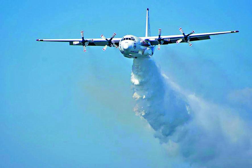 與失事滅火飛機同款的澳洲「大力士」 C-130型飛機。 資料圖片