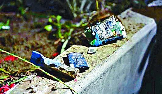 激進示威者曾以手機遙控,引爆土製炸彈企圖襲擊警員。