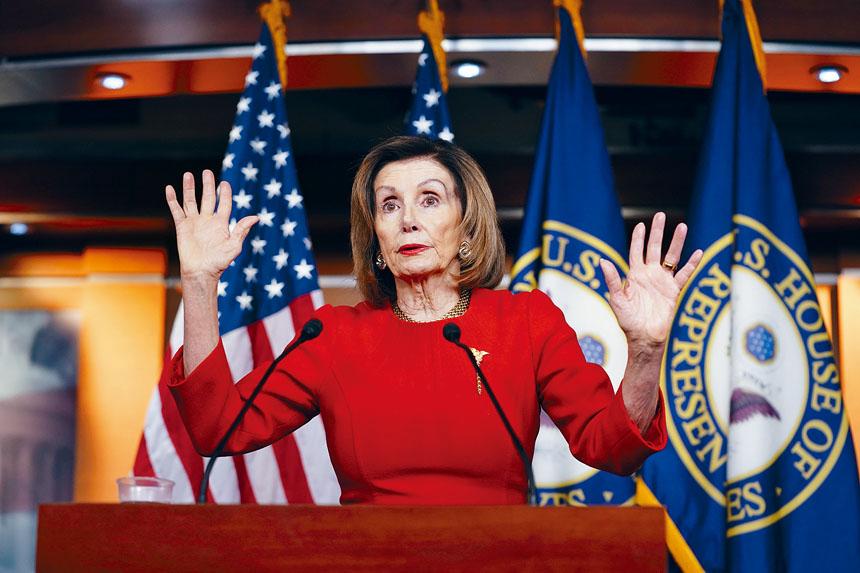 普洛西批評白宮將國會及民眾蒙在鼓裡。美聯社
