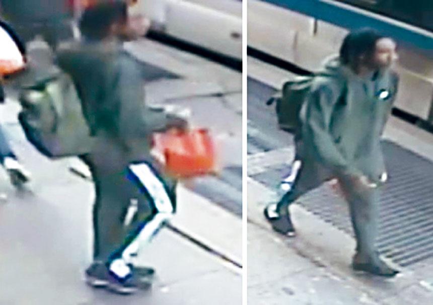 第一宗搶劫案的青年嫌犯。警方提供