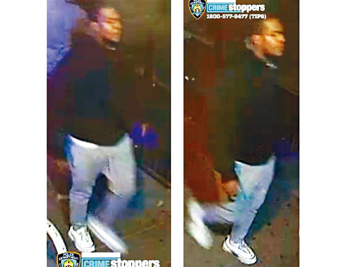 圖為涉案男嫌。NYPD