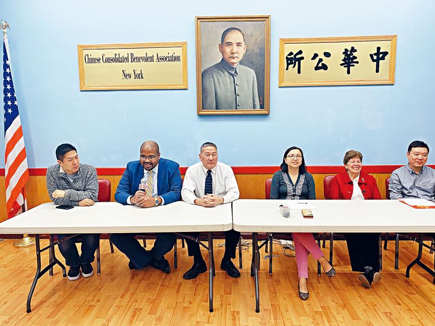 陳倩雯高步邁辦公室等呼籲華埠民眾積極申請成為社區委員會成員。