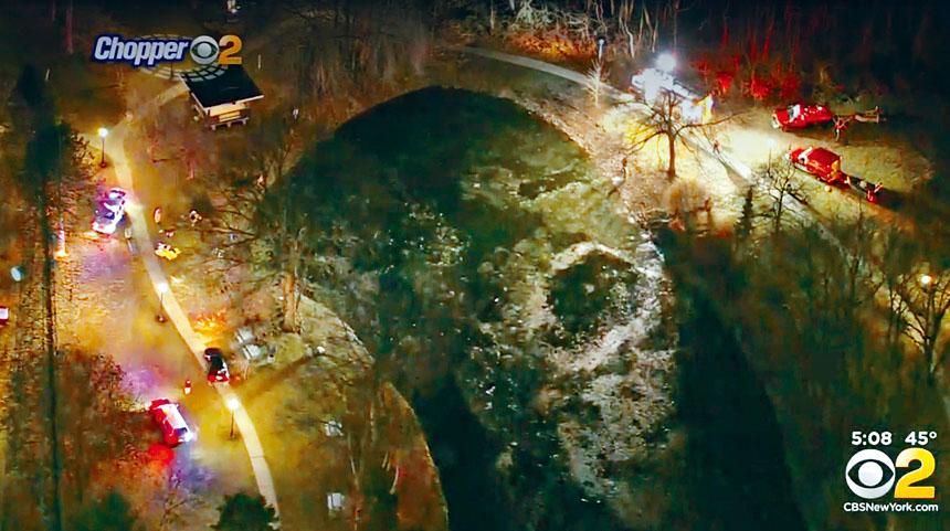 新州於24小時內發生2宗掉落冰湖溺斃事件。CBS新聞截圖