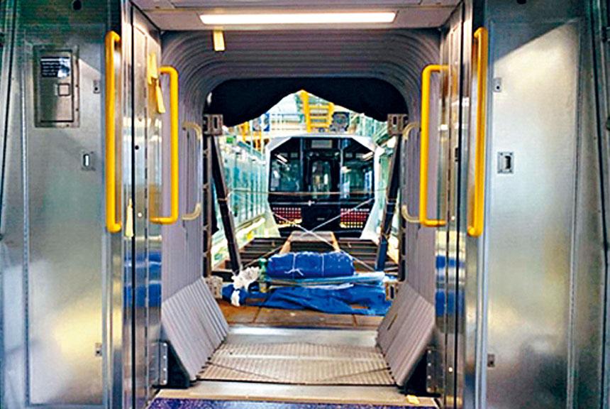 圖為新設計的可以無縫式連接的車廂。MTA圖片