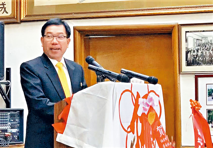 伍煥華總長發表就職演講。