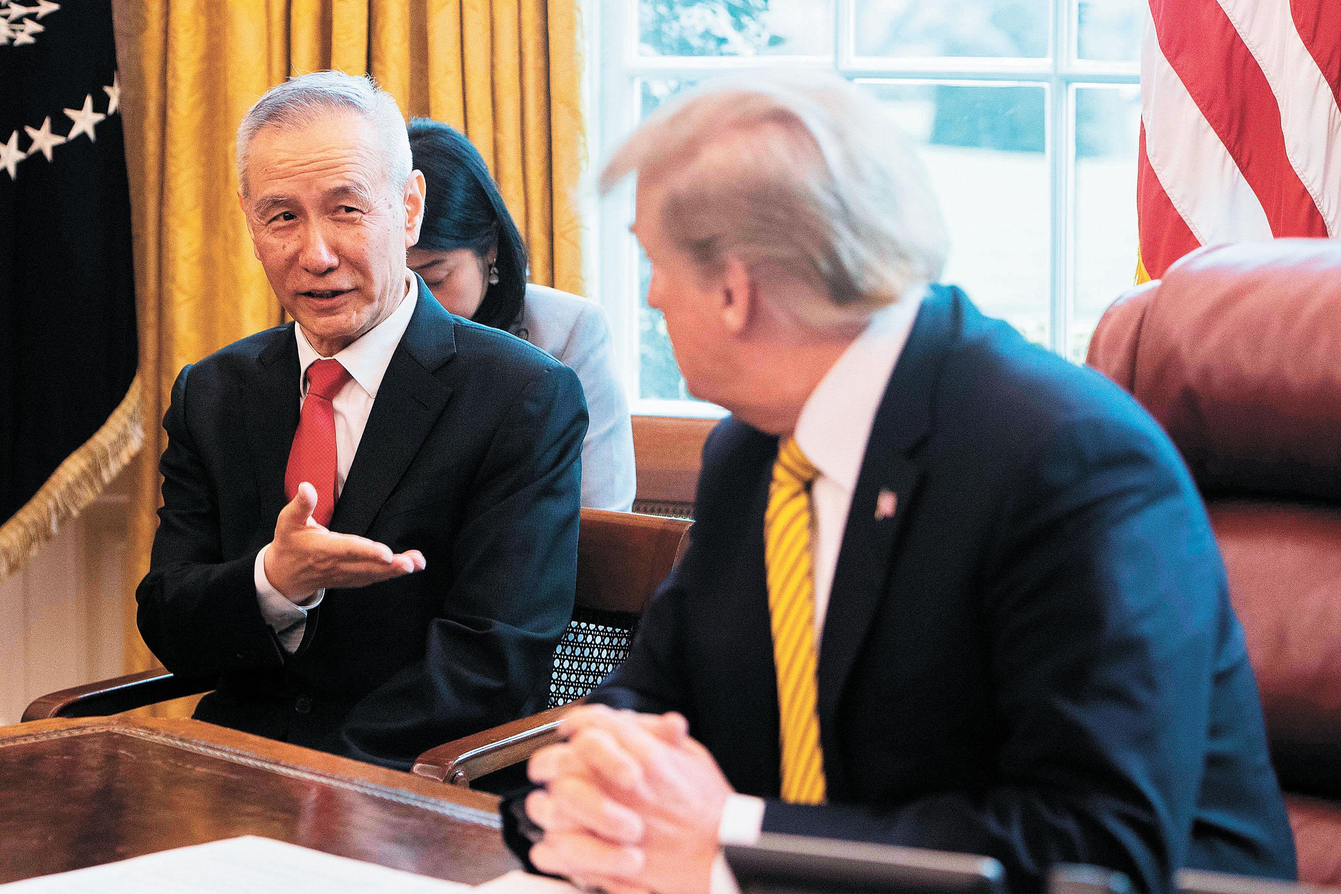 特朗普將於15日與劉鶴在白宮簽署首階段貿易協議。法新社資料圖片