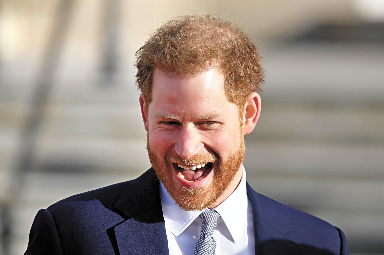 哈里王子早前出席活動時顯得神情輕鬆。路透社