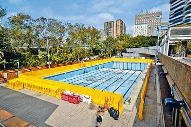 被警方稱為「汽油彈」練習場的泳池,仍未完成維修。