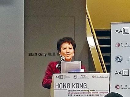 亞太結構融資公會聯席召集人張秀芬表示,全球的資產管理值估計約為120萬億美元。