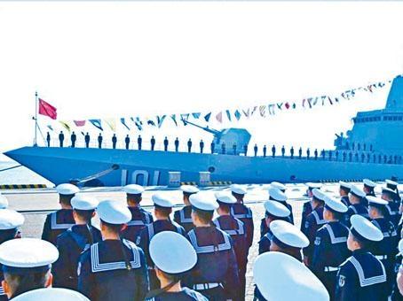 南昌艦在山東青島正式入列。