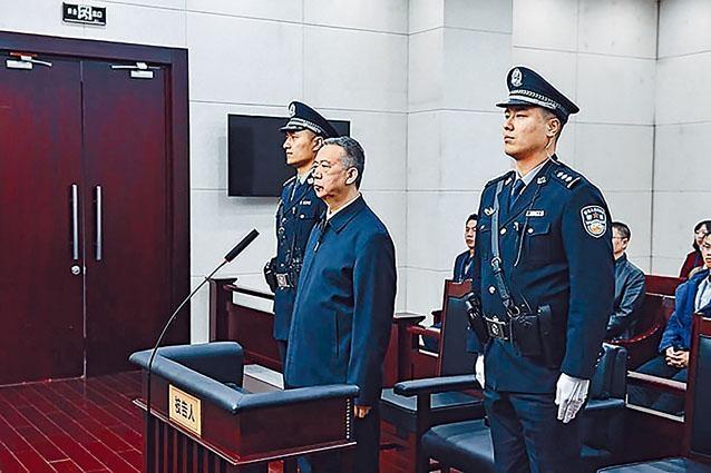 公安部原副部長孟宏偉昨天獲刑十三年半。