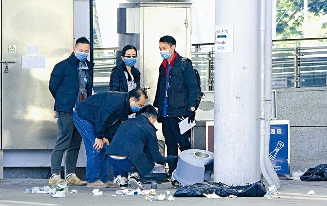 深圳灣口岸垃圾桶傳出爆炸巨響,警方封鎖現場蒐證。