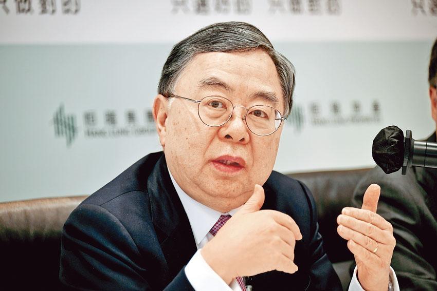 陳啟宗指,「香港唔會陸沉嘅,有人賣樓,亦都有人買樓」,恒隆若有機會也會繼續賣樓。