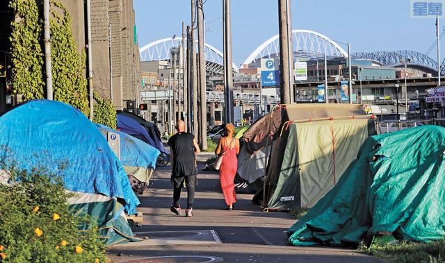最新數據指華盛頓州無家可歸者人數減少。美聯社資料圖片