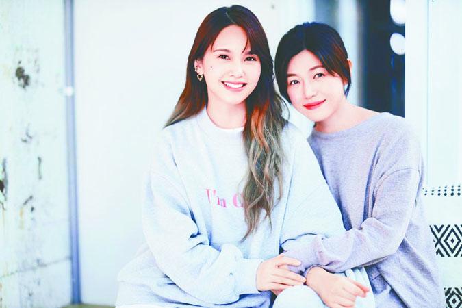 楊丞琳(左)和陳妍希(右)