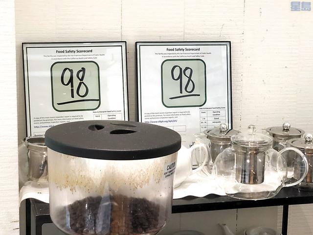 三藩市目前的食品安全評級以分數表示。記者彭詩喬攝