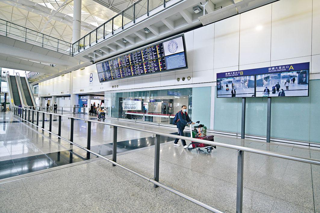 本港自實施檢疫令後,入境人數已大為減少。