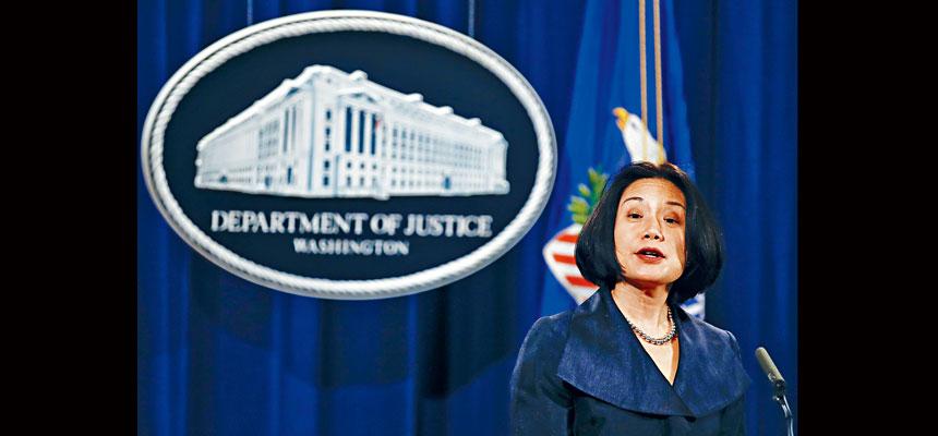 總統特朗普撤銷對前華府華裔聯邦檢察官劉潔西的財政部助理部長提名。資料圖片