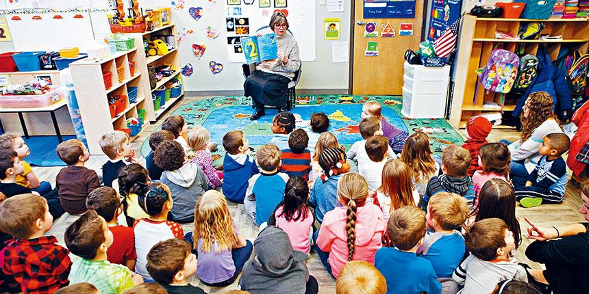 全國評估工具顯示,參與學前班項目有助於孩子提高成績。資料圖片