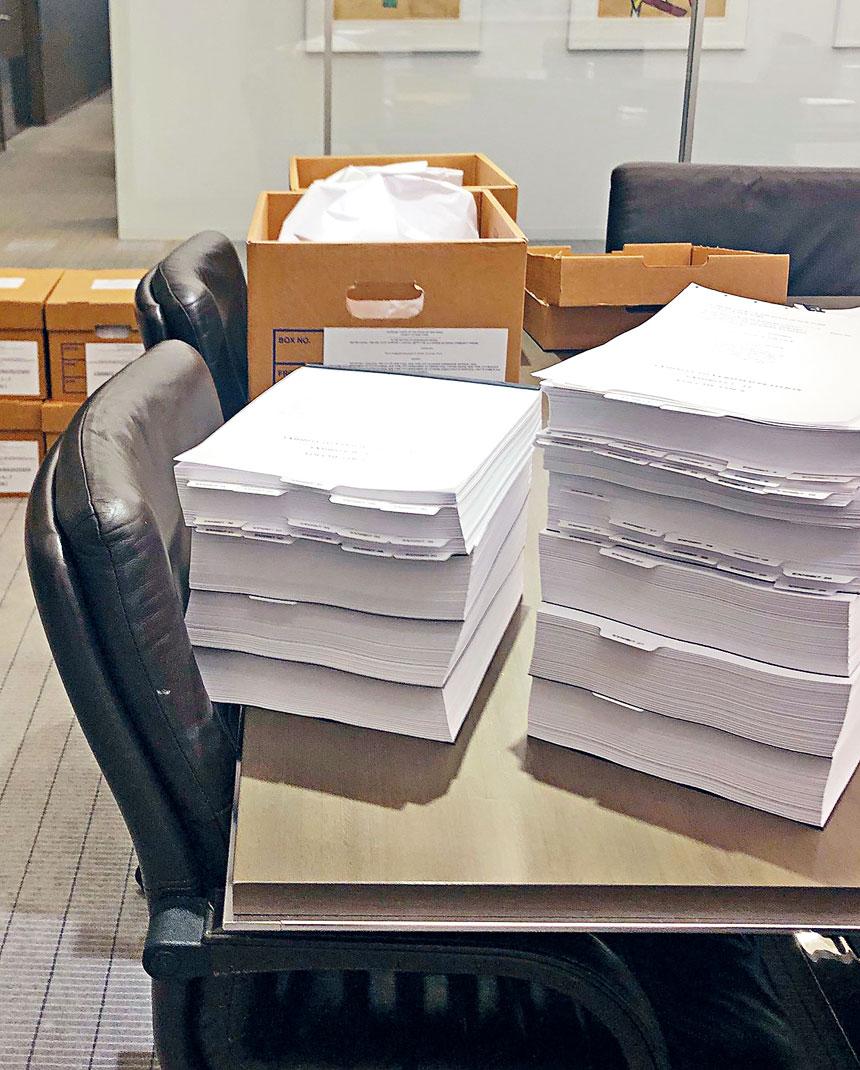 由「堅尼路以南居民聯盟」等組織和個人向市府及相關機構提起的訴訟僅訴訟書就長達2000頁。