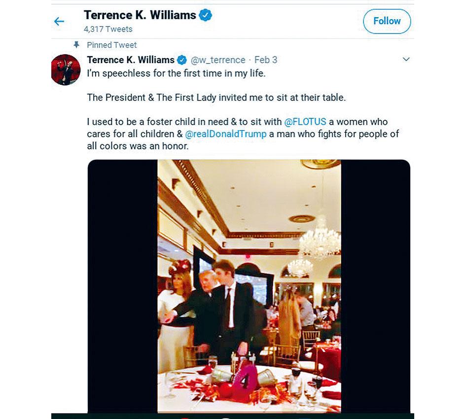 Terrence Williams發的推文。