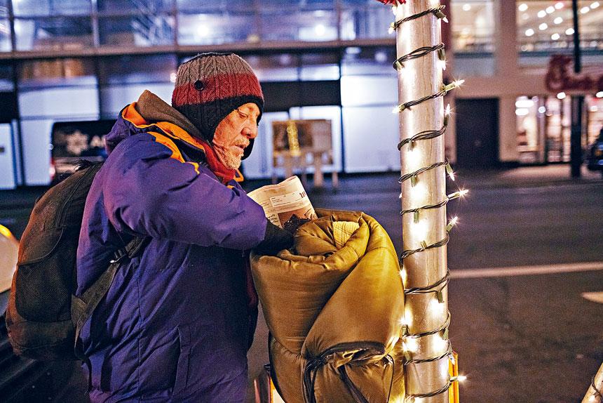 紐市5區內夜間有約3600名街頭遊民。Anna Watts/紐約時報