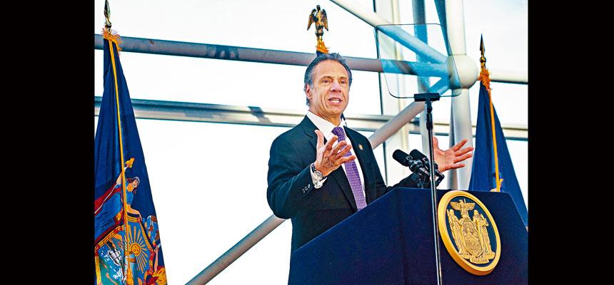 柯謨批特朗普把紐約州多項重要基建當成「人質」。Chang W. Lee/紐約時報