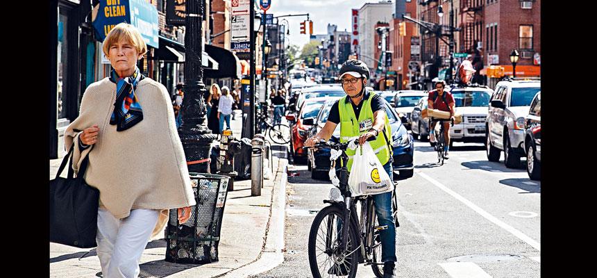 外賣送餐應用程式近年在紐約市日益受歡迎。Jeenah Moon/紐約時報