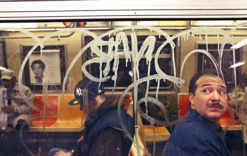 去年發生248宗地鐵嚴重塗鴉事件。Hiroko Masuike