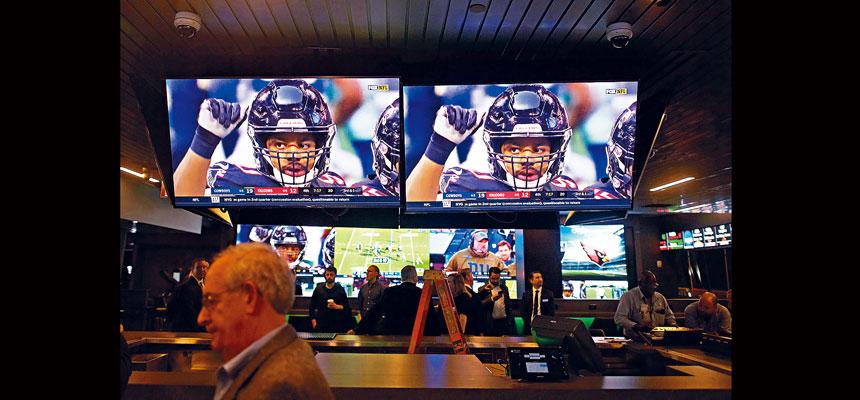 新州去年體育博彩投注額達46億元。Mark Makela/紐約時報