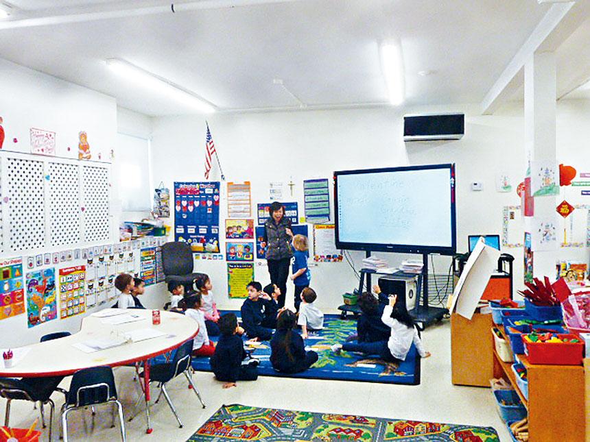 聖德力學校的學前教育班。聖德力學校提供