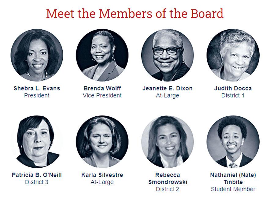 蒙郡的教委(Board of Education, 簡稱BOE)8位委員。