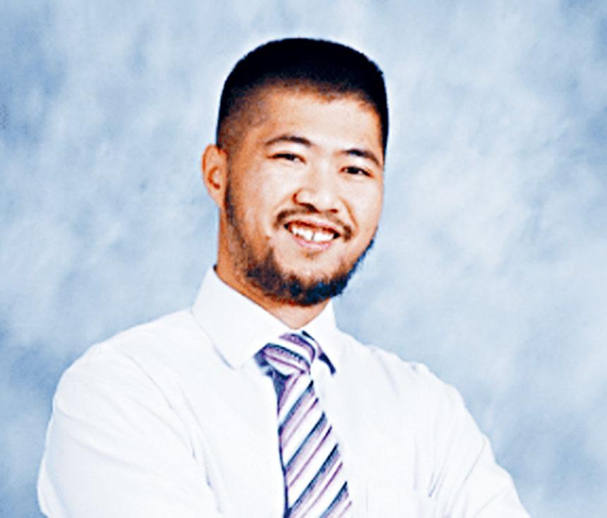 圖為華裔參選人關群杰(Jay Guan)。