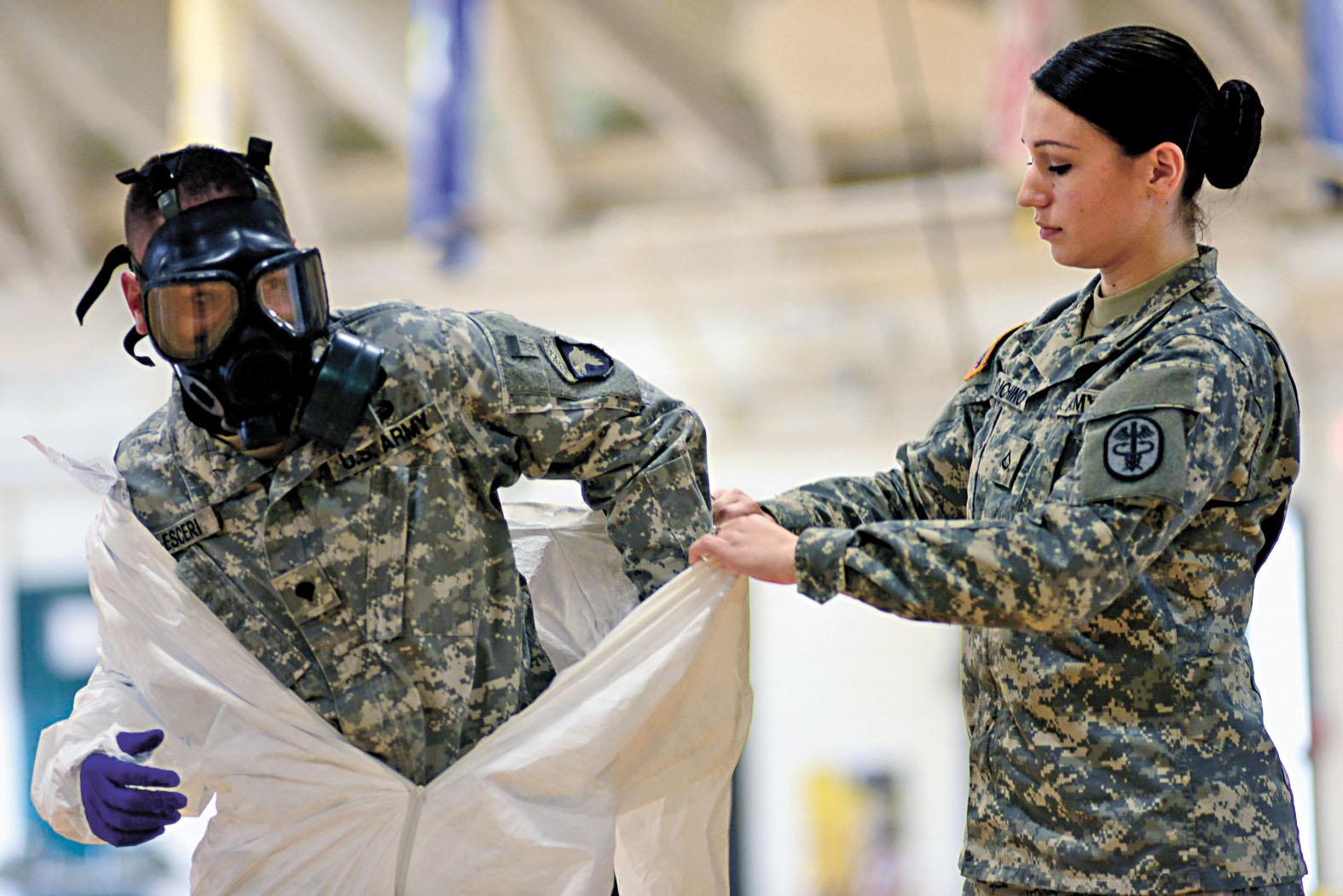 伊波拉病毒爆發時,美軍士兵到西非幫助防疫。路透社資料圖片