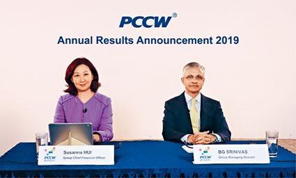 電訊盈科董事總經理施立偉(右)表示,將來會繼續審慎地在本地市場尋求增長機會。
