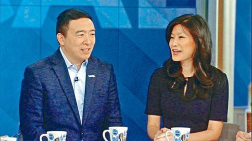 華裔企業家楊安澤與妻子盧艾玲。
