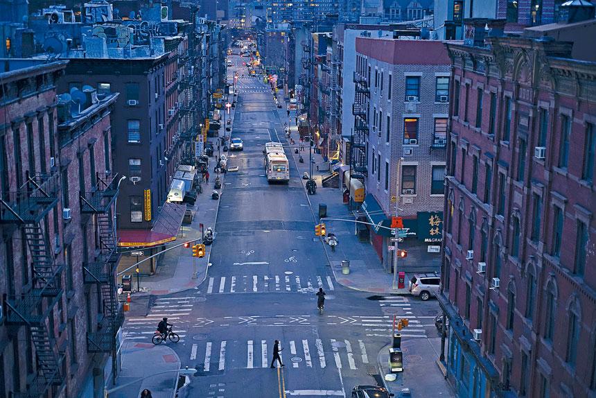 紐約市車水馬龍的情況已不再復見。美聯社