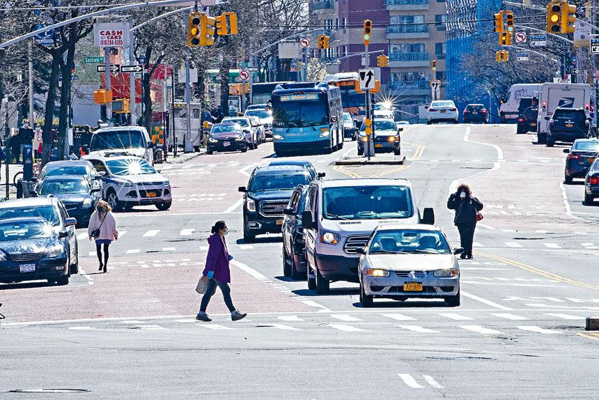 紐市5區早上繁忙時間的平均車速提高三成。美聯社