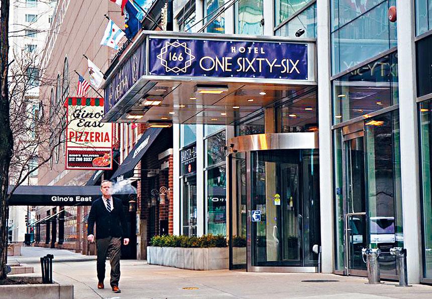 芝加哥市府將租用Hotel One Sixty Six 的客房作為新冠狀病患的臨時隔離房間,並提供三餐,一切費用由芝加哥市府支付。芝加哥官網