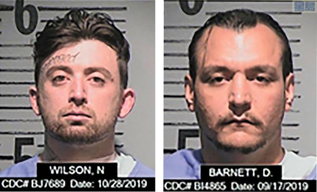 逃獄囚犯維臣(左)和巴尼特。州懲教局/美聯社