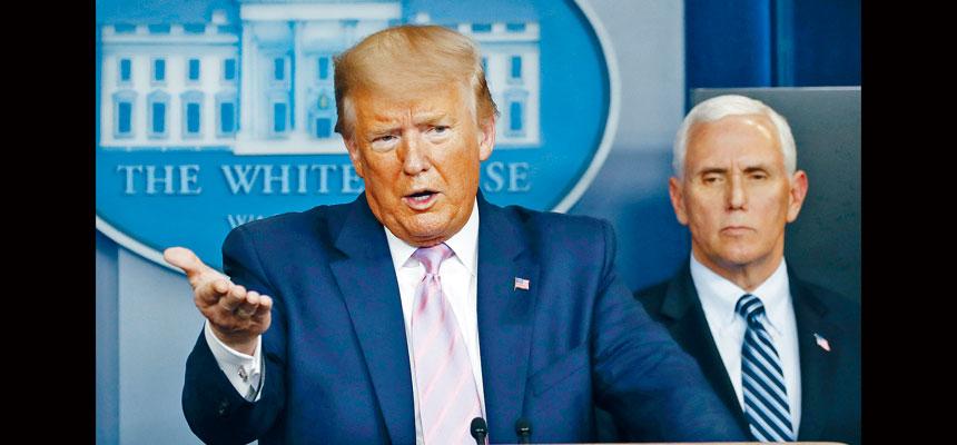 特朗普在簡報會上說他自己不會戴口罩,並說自己在與各國政要舉行重要會談時也不會戴口罩。美聯社