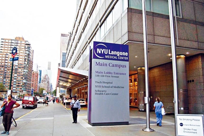 紐約大學朗格尼醫療中心為不少華裔病人服務。